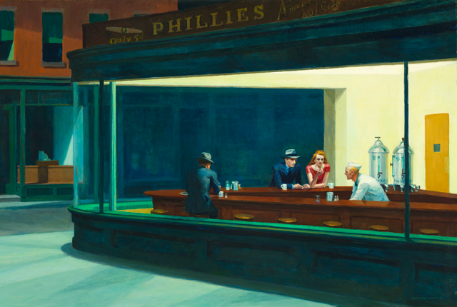 One Painting from Edward Hopper. 1000 words from Michael Connelly.